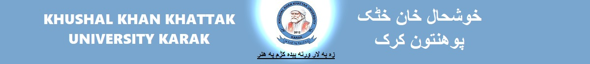 Khushal Khan Khattak University, Karak, Official website